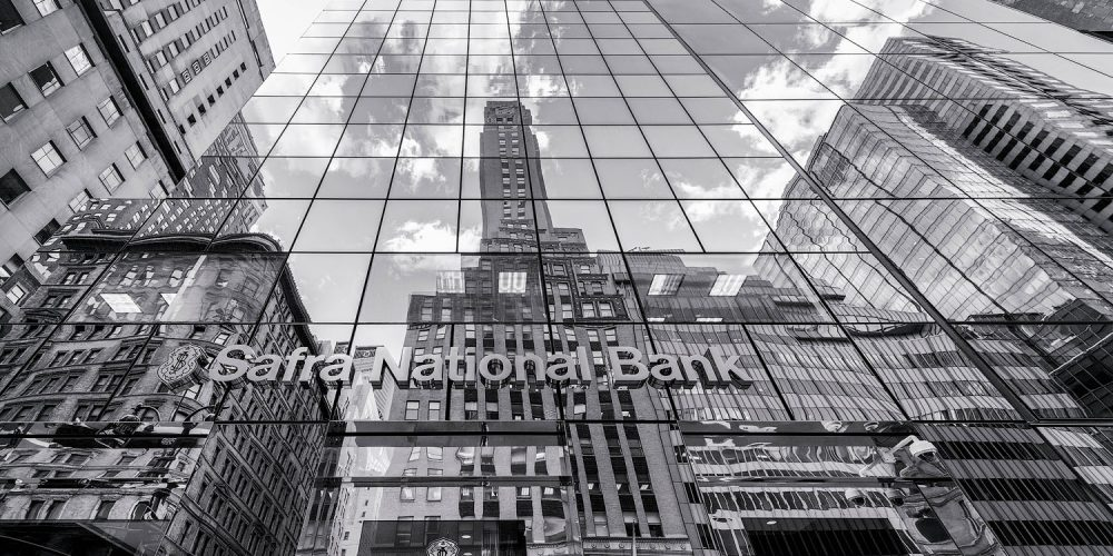 Safra National Bank New York City Black & White Photo