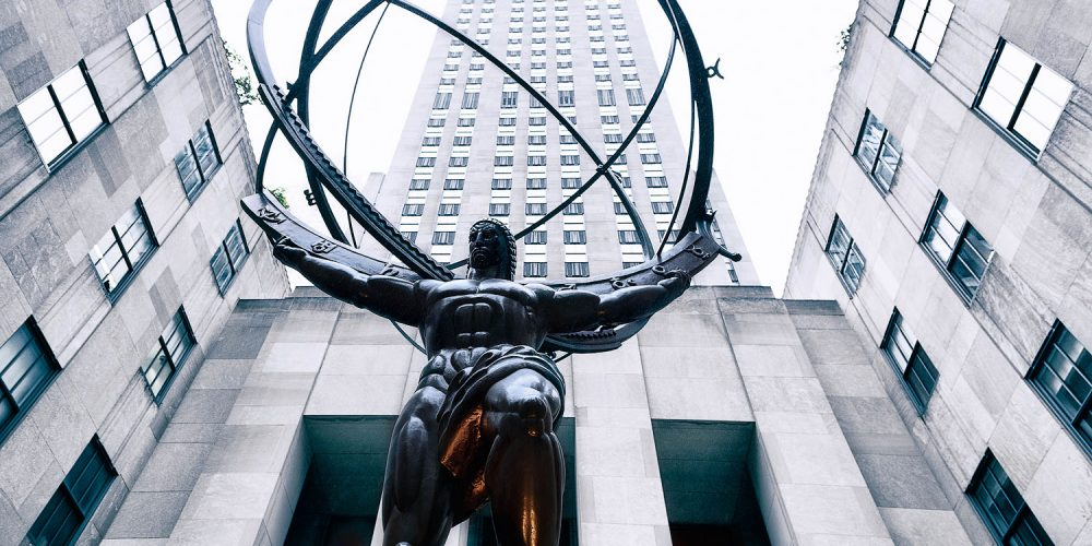 Atlas Statue Rockefeller Center NY Architecture Photography