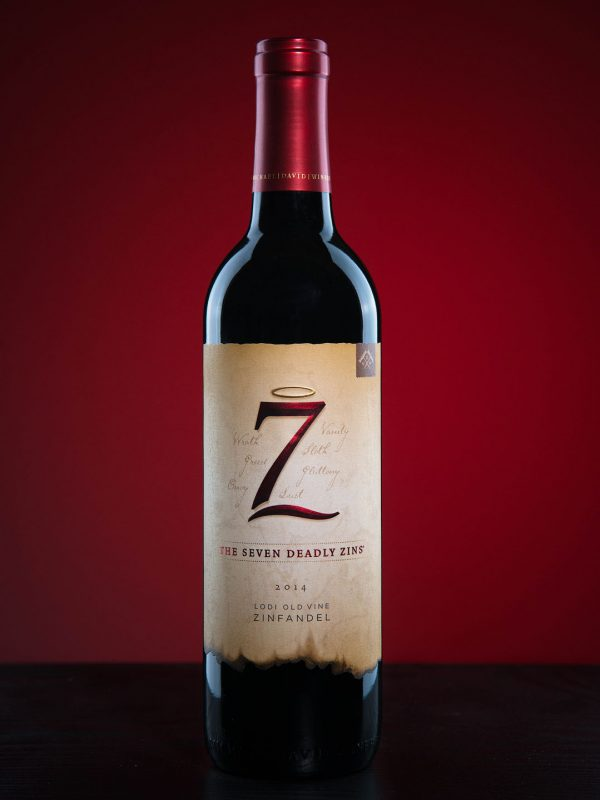 Seven Deadly Zins Zinfandel Wine Product Photography