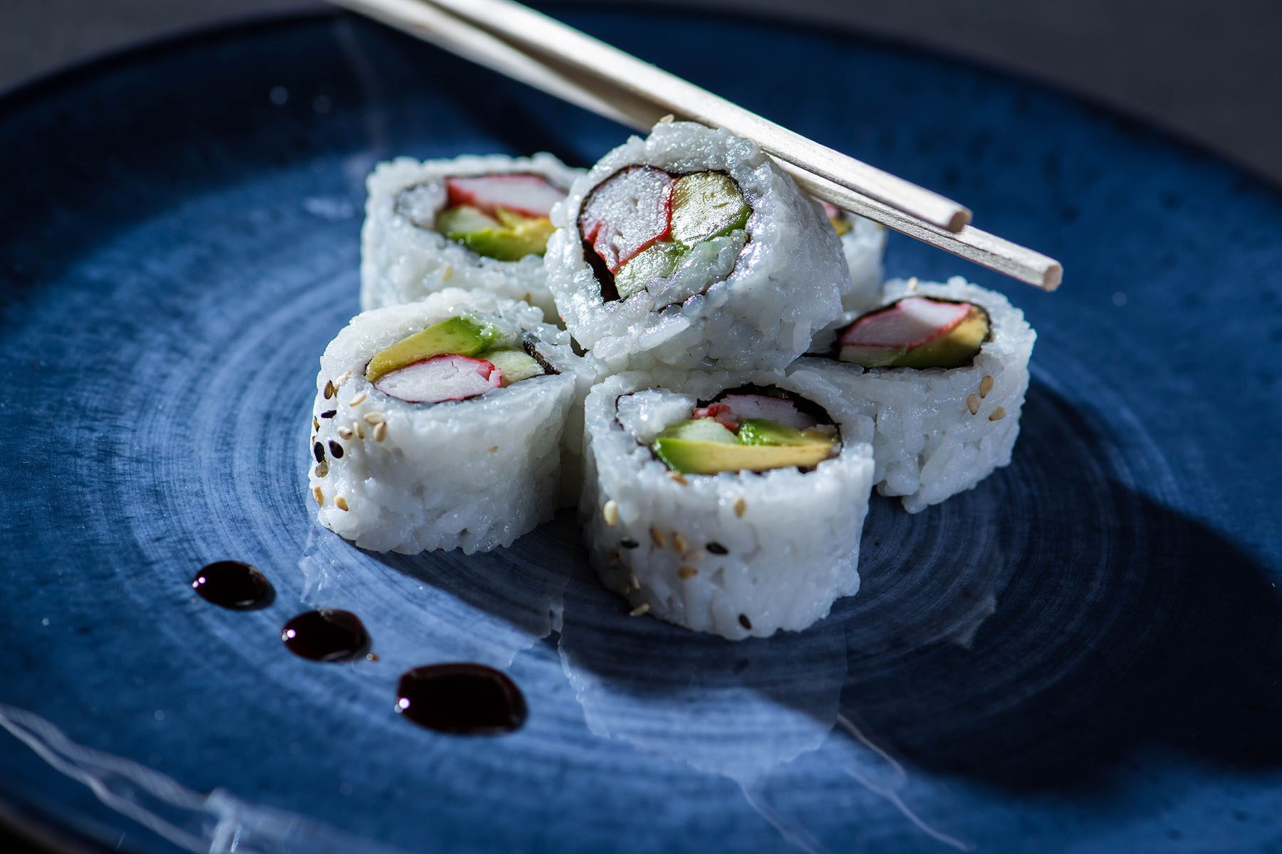 California Sushi Roll Food Photography