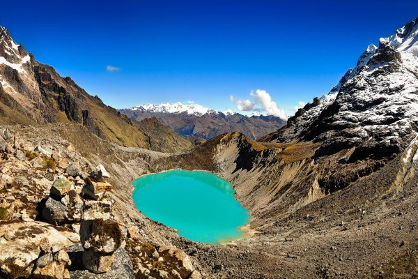 Blue Glacier Lagoon Salkantay Trek Machu Picchu Peru