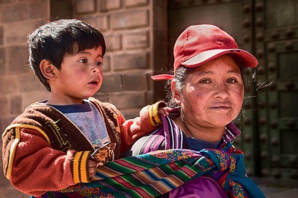 Mother Child Cusco Peru Travel Photography