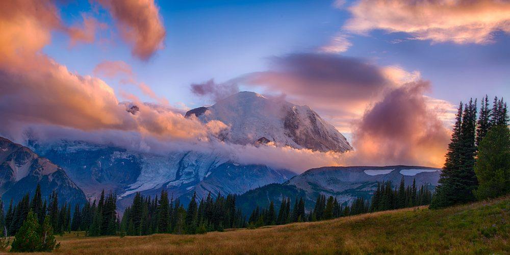 Sunset Mount Rainier National Park