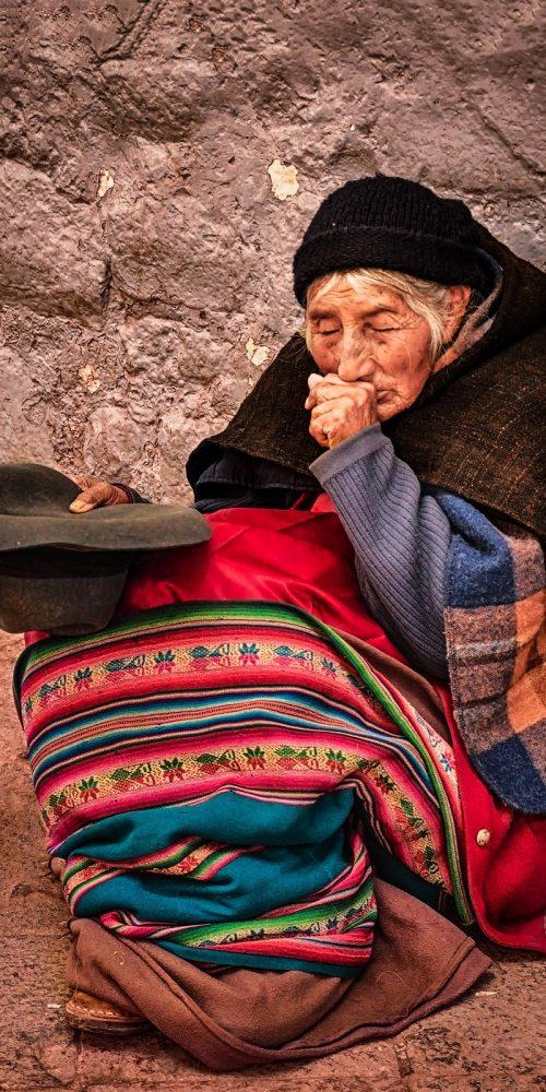 Old Woman Cusco Peru Travel Photography