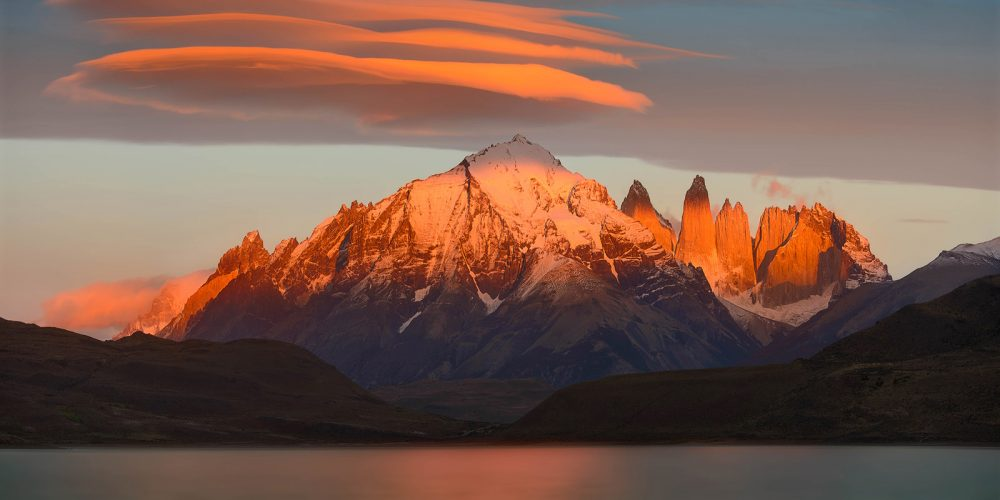 Sunrise Torres Del Paine Patagonia Landscape Photography