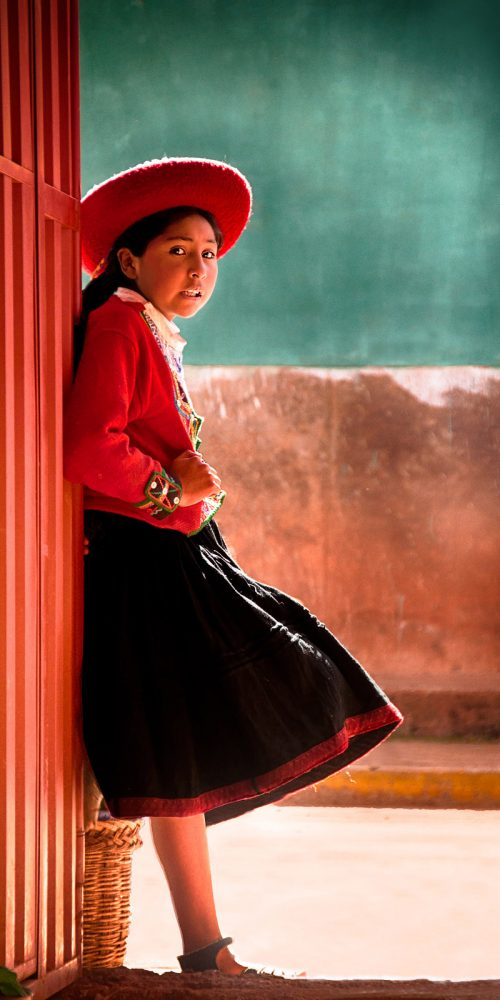 Girl Andes Mountains Peru Travel Photography